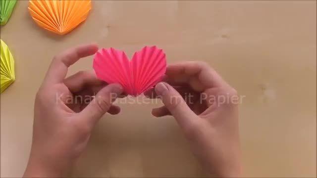 آموزش اوریگامی قلب برای روز مادر
