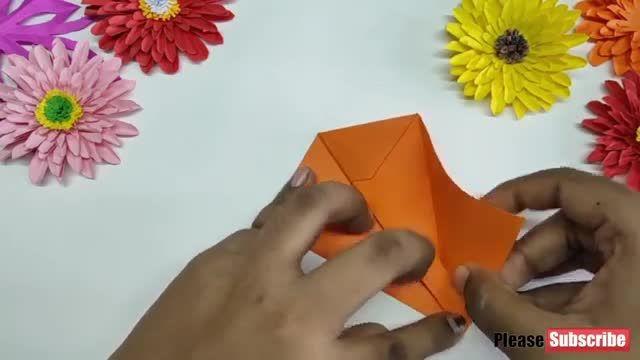 آموزش تصویری ساخت کارستی سگ با کاغذ اوریگامی