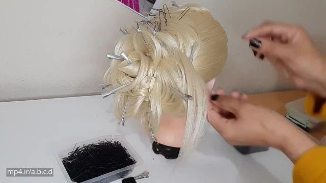 اموزش ارایش موها به سبکی زیبا برای دختران