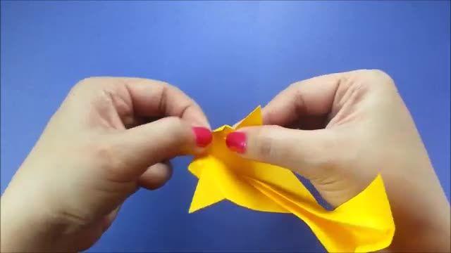 آموزش تصویری ساخت کاردستی ماهی با کاغذ رنگی !