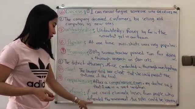 آموزش تصویری ویدیویی کتاب 504 کلمه ضروری انگلیسی درس ششم