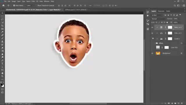 آموزش تصویری چگونه در فتوشاپ عکسمان را کارتونی کنیم؟