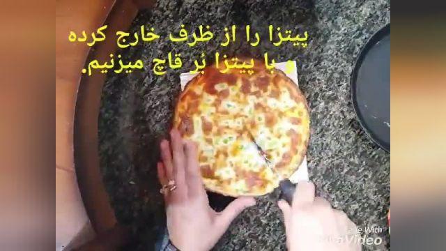 طرز تهیه پیتزا با کالباس خانگی( بهترین نوع پیتزا بصرفه و فوری )