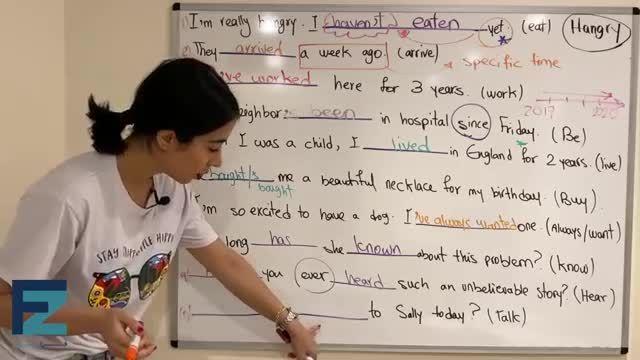 آموزش تصویری گرامر زبان انگلیسی - تفاوت حال کامل وگذشته ساده