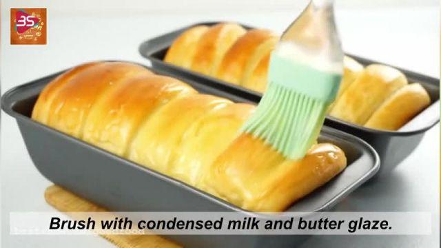 دستور پخت نان شیر مالِ خانگی ساده و سریع و سه