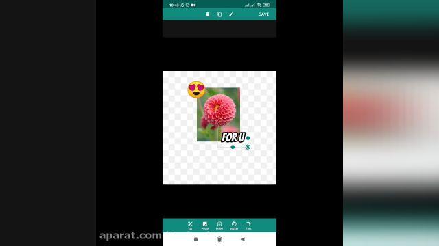 آموزش تصویری ساخت استیکر واتساپ با عکس خودم !