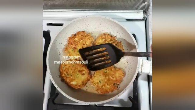 طرز تهیه کوکو مرغ پنیری بسیار خوشمزه و لذیذ