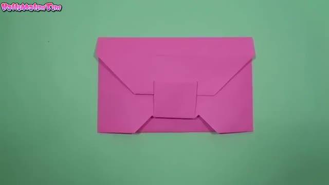 آموزش اوریگامی پاکت برای هدیه روز مادر