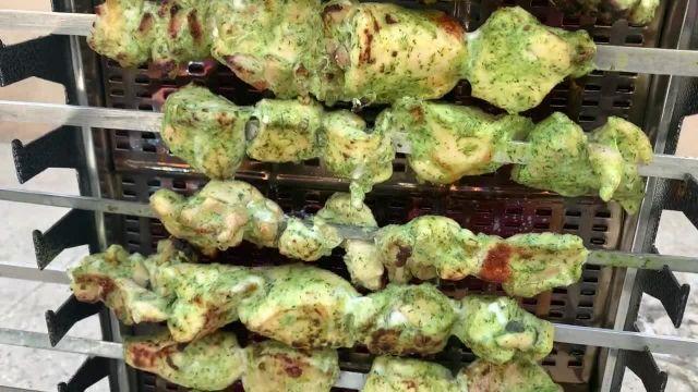 طرز تهیه جوجه کباب سبز رستورانی بسیار خوش طعم و لذیذ به صورت ویدئویی