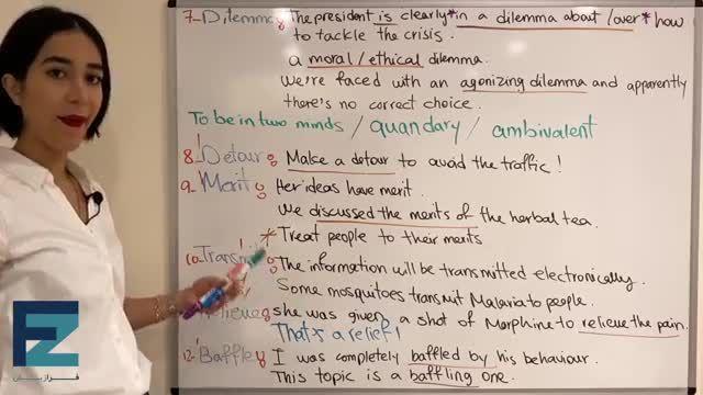 آموزش تصویری ویدیویی کتاب 504 کلمه ضروری انگلیسی درس بیست و یکم