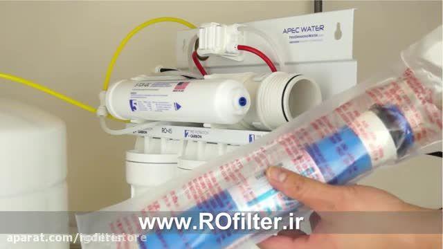 آموزش ویدیویی تعویض فیلتر تصفیه آب خانگی در منزل !