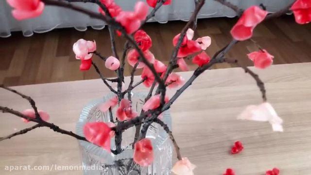 آموزش ساخت دکوری زیبا با شاخه درخت و شمع