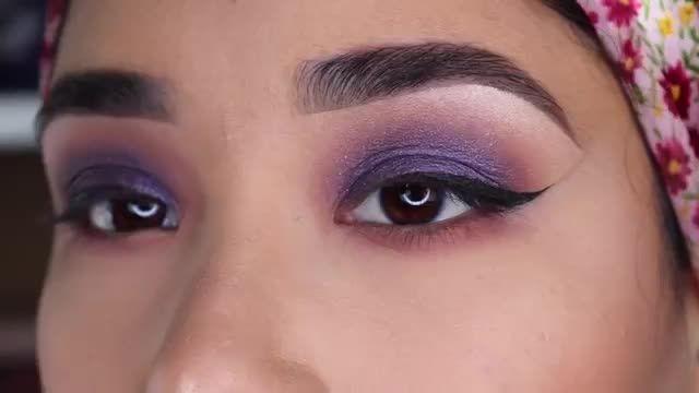 آموزش سایه زدن چشم - سایه چشم رنگی و شیک با تزیین مژه های بلند