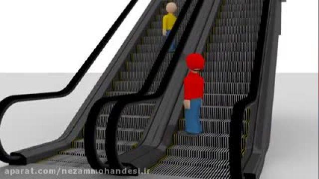 آموزش تصویری روش سوار شدن برروی پله برقی !