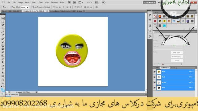 آموزش تصویری ساخت استیکر واتساپ با فتوشاپ !