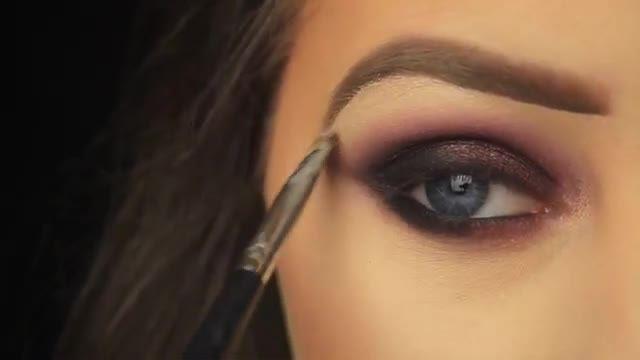 آموزش آرایش و میکاپ چشم - ترکیب قهوه ای و دودی ایده آل برای طراحی سایه چشم