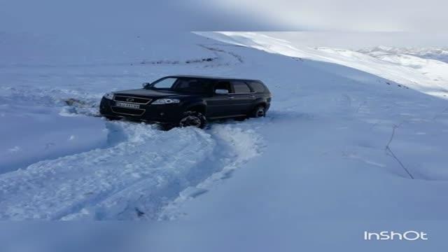 لندمارک  عبور از برف
