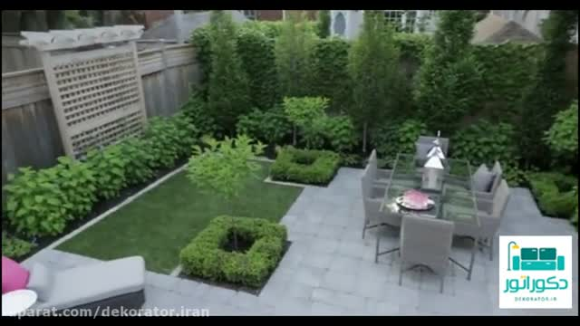 بازسازی حیاط با یک باغچه کوچک