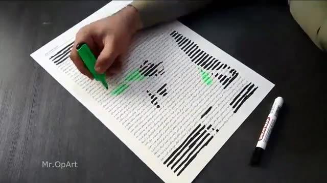 Incredible Portrait Drawing  نقاشی چهره آیت الله هاشمی رفسنجانی