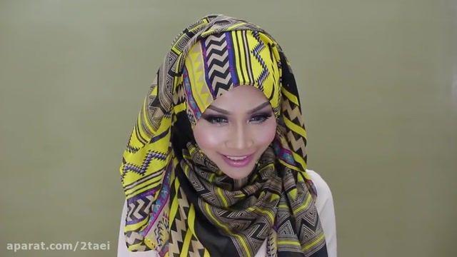 روش بستن مدل شال و روسری