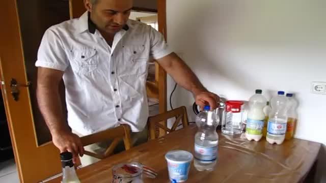 آموزش طرز تهیه دوغ گازدار در خانه