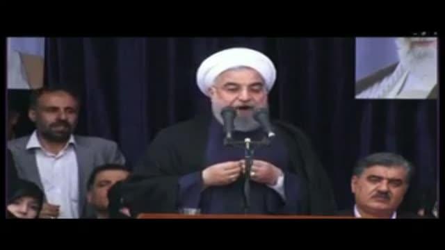 وقتی BBC فارسی در گزارش خود جمعیت حامیان رییسی را به نام روحانی نشان داد! (دزدی جمعیت!)