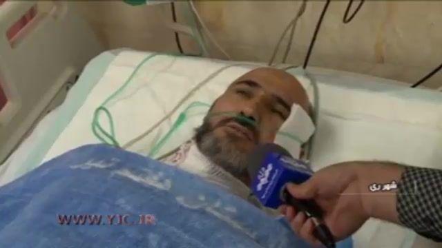 روحانی مجروح به بیان جزییات حادثه متروی شهر ری پرداخت