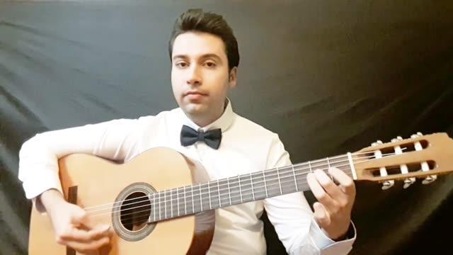 اجرای بسیار زیبای استاد امیر کریمی قطعه مالاگوینا
