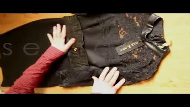 خرید اینترنتی لباس مجلسی مشکی زنانه گیپور