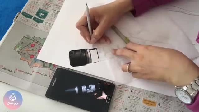 drawing portrait - نقاشی چهره به سبک سیاه قلم با زغال و مداد سیاه