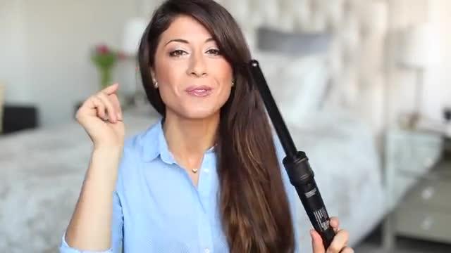 آموزش فر کردن مو در چند دقیقه با زیر نویس فارسی - How to Curl Your Hair in 5 Minutes