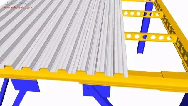 نحوه اجرای سقف عرشه فولادی ، گروه صنعتی عرشه کاران