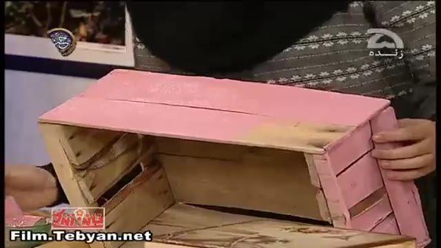 آموزش رنگ آمیزی جعبه چوبی (خانم خیرخواه)