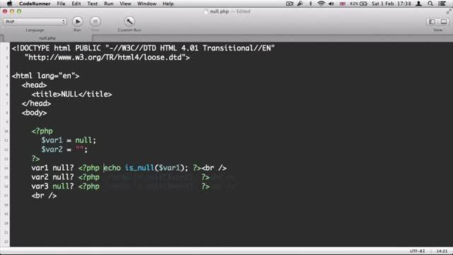 23- عملکرد NULL در پی اچ پی PHP