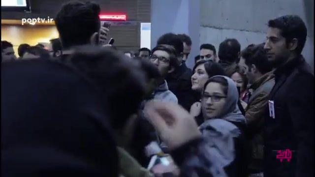 فجر 35 / باران کوثری و محسن کیانی در فرش قرمز فیلم سینمایی سد معبر