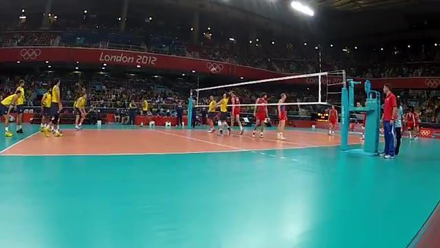ویدیوی فنی - فینال المپیک 2012 (برزیل - روسیه) - گرم کردن 2