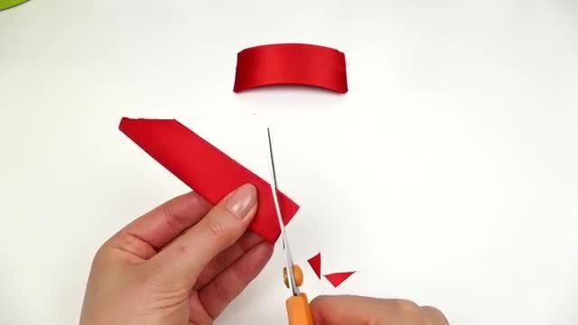 چگونه روبان را افزایش دادم I DIY Ribbon Flower I Tutorial