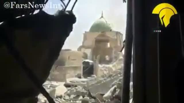 فوری  : اولین تصاویر از ورود نیروهای عراقی به مسجد نوری در موصل