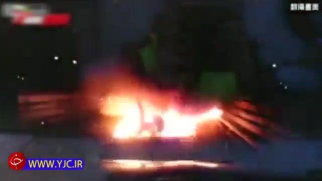 انفجار موتورسیکلت در لحظه تصادف با خودرو متخلف