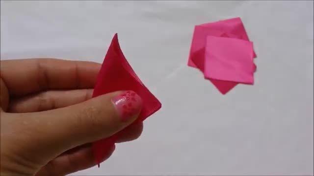 DIY گل Kanzashi، آموزش آسان گل های روبان، نحوه ساخت، kanzashi flores de cinta