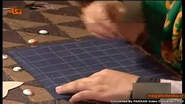 آموزش دوخت حلزونی پارچه
