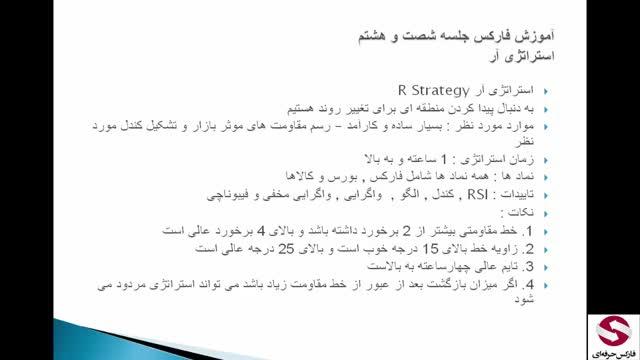 68. استراتژی R استراتژی اختصاصی فارکس حرفه ای-استراتژی