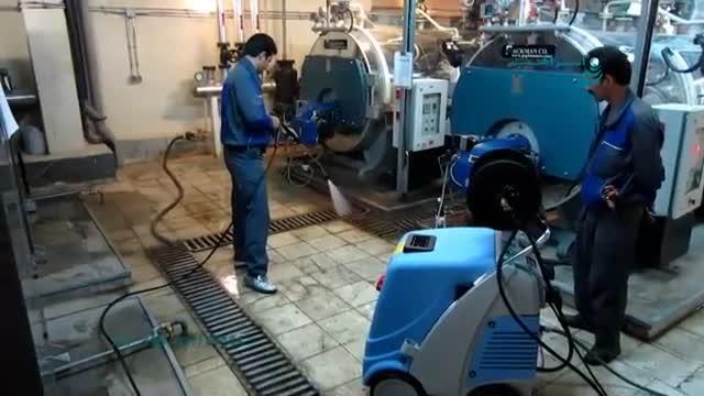 کارواش آب گرم / شستشو و لایه برداری تجهیزات صنعتی