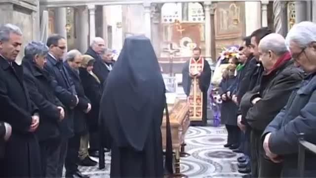 مراسم بزرگداشت اسقف حامی مقاومت فلسطین در رم