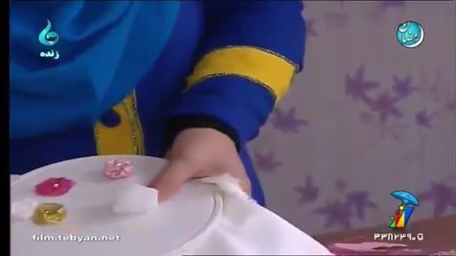 آموزش دوخت گل های پفکی توسط خانم سمندر