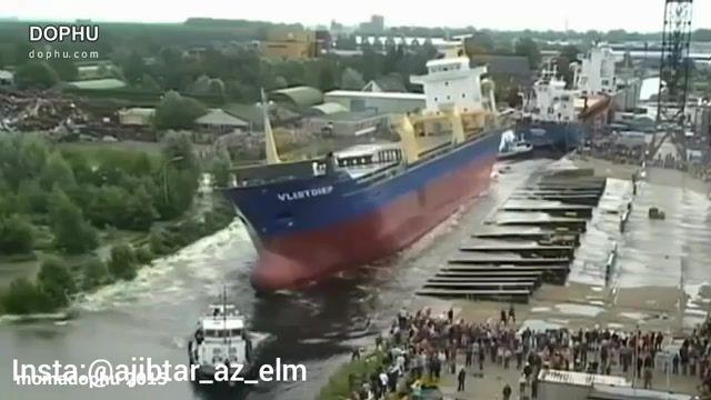 نحوه به آب انداختن کشتی های غول پیکر