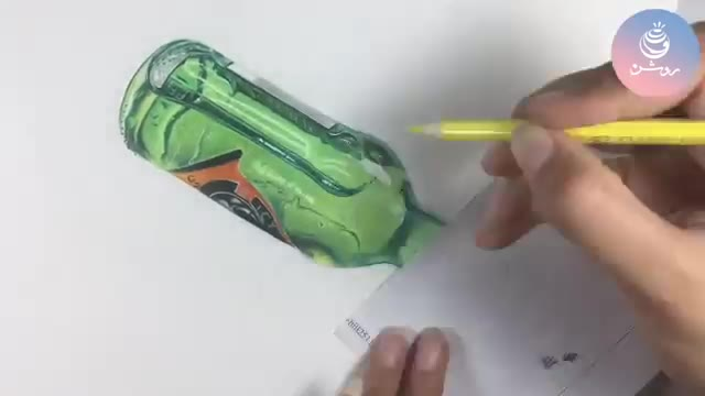 نقاشی مداد رنگی اشیا شیشه ای و سه بعدی (دوره مداد رنگی1