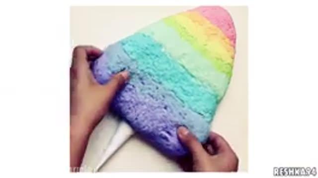 اسلایم رنگین کمانی شکل بستنی