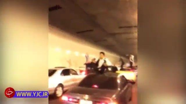 تصادف زنجیرهای در تونل بر اثر توقف ناگهانی خودروهای کاروان عروسی