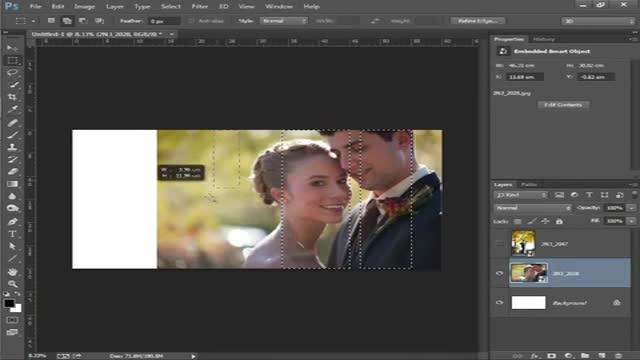 آموزش فتوشاپ -  طراحی آلبوم عروس.